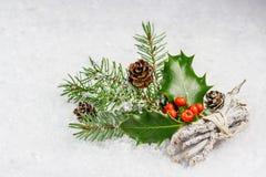 Holly jagody liść i Fotografia Stock