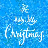Holly Jolly Christmas calligrapy Royalty Free Stock Photography