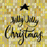 Holly Jolly Christmas calligrapy Royalty Free Stock Photo