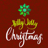 Holly Jolly Christmas calligrapy Royalty Free Stock Photos