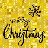Holly Jolly Christmas calligrapy Stock Image