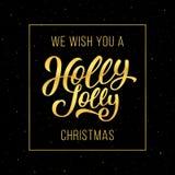 Holly Jolly Christmas-groetkaart Royalty-vrije Stock Fotografie