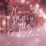 Holly jolly christmas Stock Images