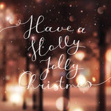 Holly jolly christmas Royalty Free Stock Photography