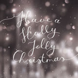 Holly jolly christmas Stock Photo