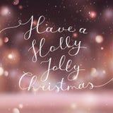 Holly jolly christmas Stock Image