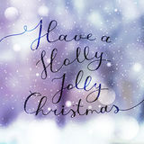 Holly jolly christmas Royalty Free Stock Photos