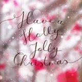 Holly jolly christmas Royalty Free Stock Image