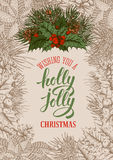Holly jolly Christmas Royalty Free Stock Image