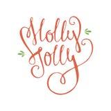 Holly Jolly Stock Image