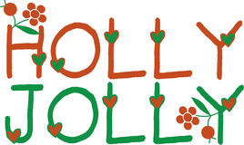 Holly Jolly Stock Photography
