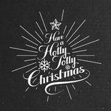 Holly Jolly Merry Christmas Photo libre de droits
