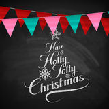 Holly Jolly Merry Christmas Photos libres de droits