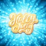Holly Jolly Merry Christmas Illustrazione di vettore Fotografia Stock