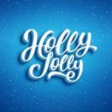 Holly Jolly Merry Christmas Illustrazione di vettore Fotografie Stock