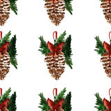 Holly jolly Merry Christmas Seamless pattern Royalty Free Stock Photography