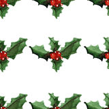 Holly jolly Merry Christmas Seamless pattern royalty free illustration