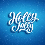 Holly Jolly Merry Christmas Vector illustratie Stock Foto's