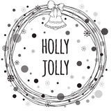 Holly Jolly Quote Typography Banner Design Photographie stock