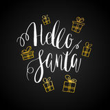 Holly Jolly! Vector greeting card Royalty Free Stock Images