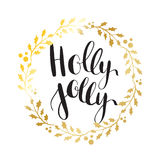 Holly Jolly! Vector greeting card Stock Image