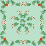 Holly lace. The leaves and berries. Royalty Free Stock Photo