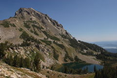 Holly Lake. In Paintbrush Canyon of Grand Teton National Park royalty free stock photos