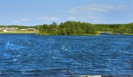 Holly lake on Big Solovki island Royalty Free Stock Image