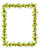 Holly Leaf Border Frame Stock Photos