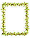 Holly Leaf Border Frame Stock Photos