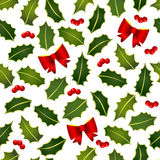 Holly leafs seamless Royalty Free Stock Photography