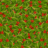 Holly leaves background vector illustration