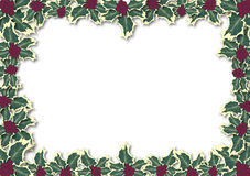 Holly Leaves Border Royalty Free Stock Photography