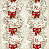 Holly leaves wreath seamless pattern on light Royalty Free Stock Photos