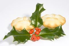 Holly and mincepies Stock Image