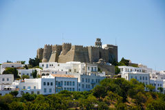 Holly monastery in Patmos island Greece Stock Photography