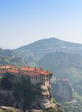 Holly monastery of Varlaam built on a tall rock Royalty Free Stock Photo