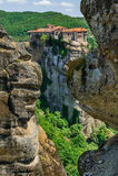 The holly monastery of Varlaam, Meteora, Greece Royalty Free Stock Image