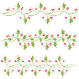 Holly ornament Royalty Free Stock Images