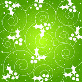 Holly pattern - VECTOR Royalty Free Stock Photography