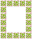 Holly and red berries border Royalty Free Stock Images