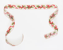 Holly Ribbon Banner Stock Photos