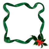 Holly & ribbon border Royalty Free Stock Photos