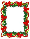 Holly Ribbons And Bows Frame Royalty Free Stock Photography