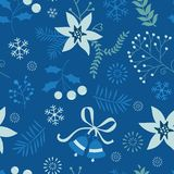 Holly seamless pattern Royalty Free Stock Photography