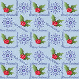 Holly and snowflakes. Royalty Free Stock Image