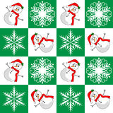 Holly Snowman Design Stock Photos