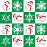Holly Snowman Design Stock Photos