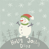 Holly snowman Stock Photography