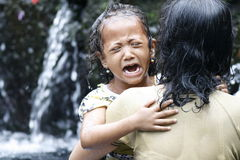 Holly springs in Balinese Tirta Empul Temple Stock Image